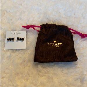 Kate Spade Black Bow Earrings NWT and New w/bag
